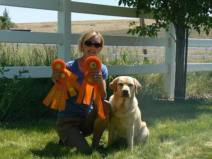 Lucy Pictured with Ribbons